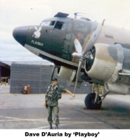 A002 1969 D2 Vietnam EC-47 Nose Art PLAYBOY