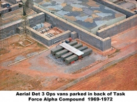 Det 3 H-1 Vans-Ops (aerial) parked in TFA compound, 1969-72 NKP-586-2
