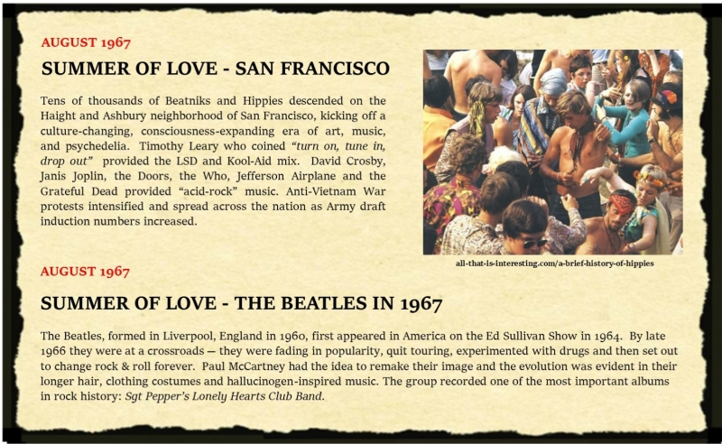 August 67 Timeline Slide - Summer of Love